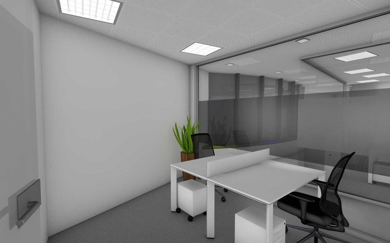 Visualização 3D de decoração de escritórios - IDEIA Hub