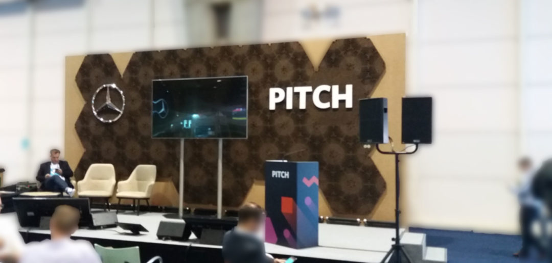 Área de Pitch na Websummit 2017