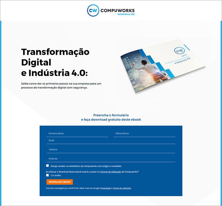 Landing page: ebook Transformação Digital