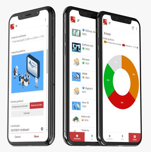 Aplicação mobile - Screens