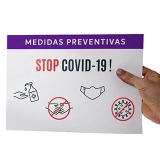 Folhetos informativos COVID-19