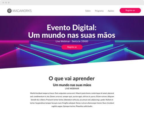 Landing page - Eventos digitais