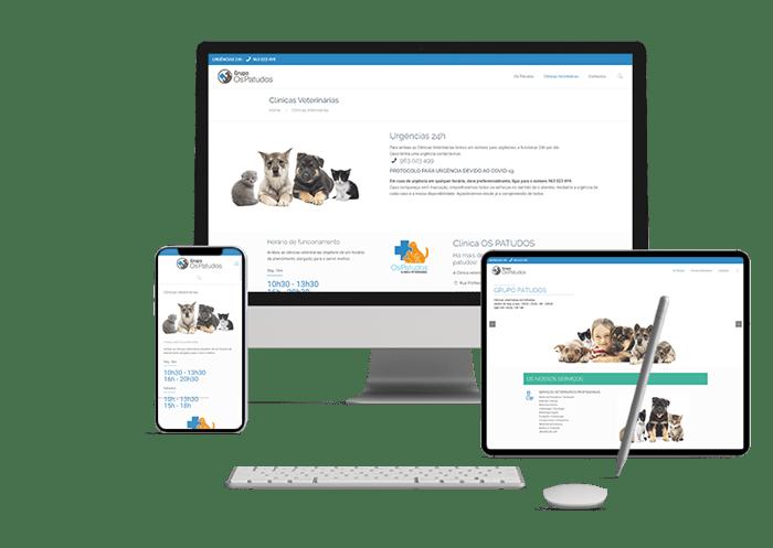 Website Clinica veterinária