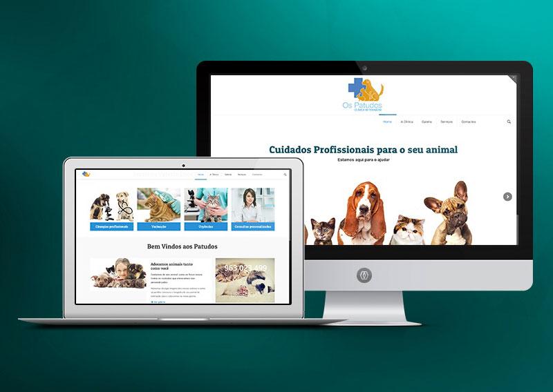 Website WordPress - Clínica veterinária Os Patudos