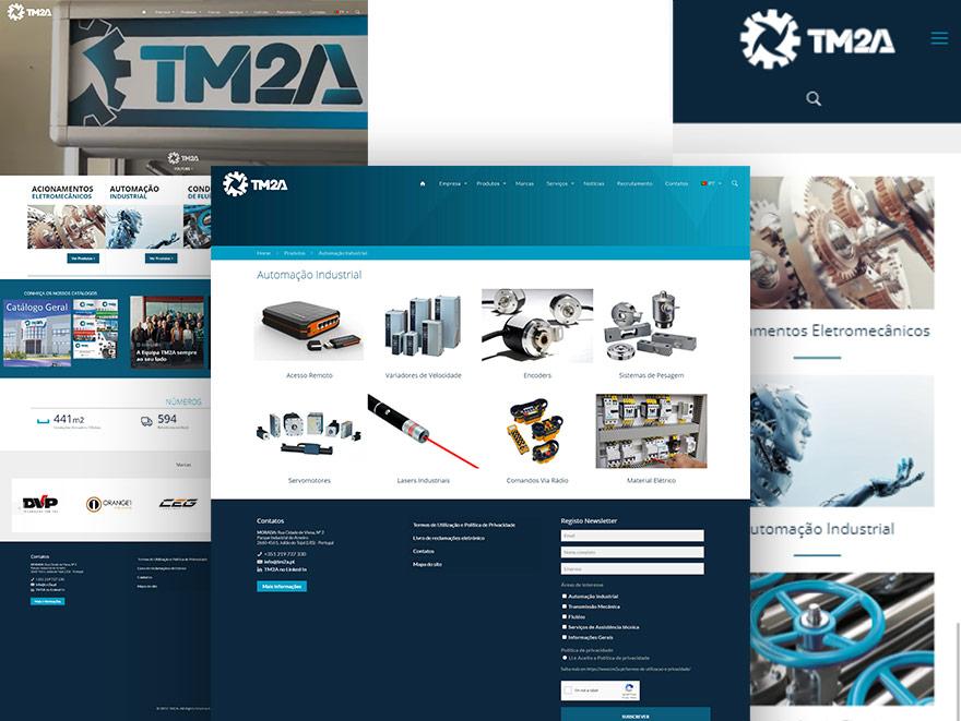 Website catálogo online em WordPress - TM2A