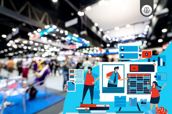 Conceito de evento digital - Tradeshow