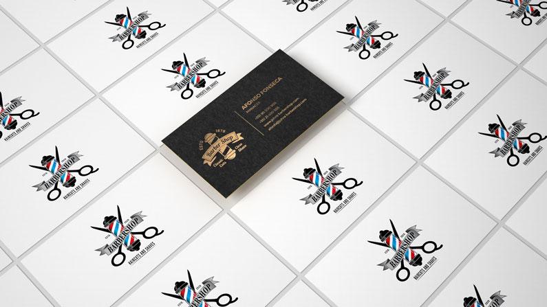 Criação de logo e cartão para comércio local