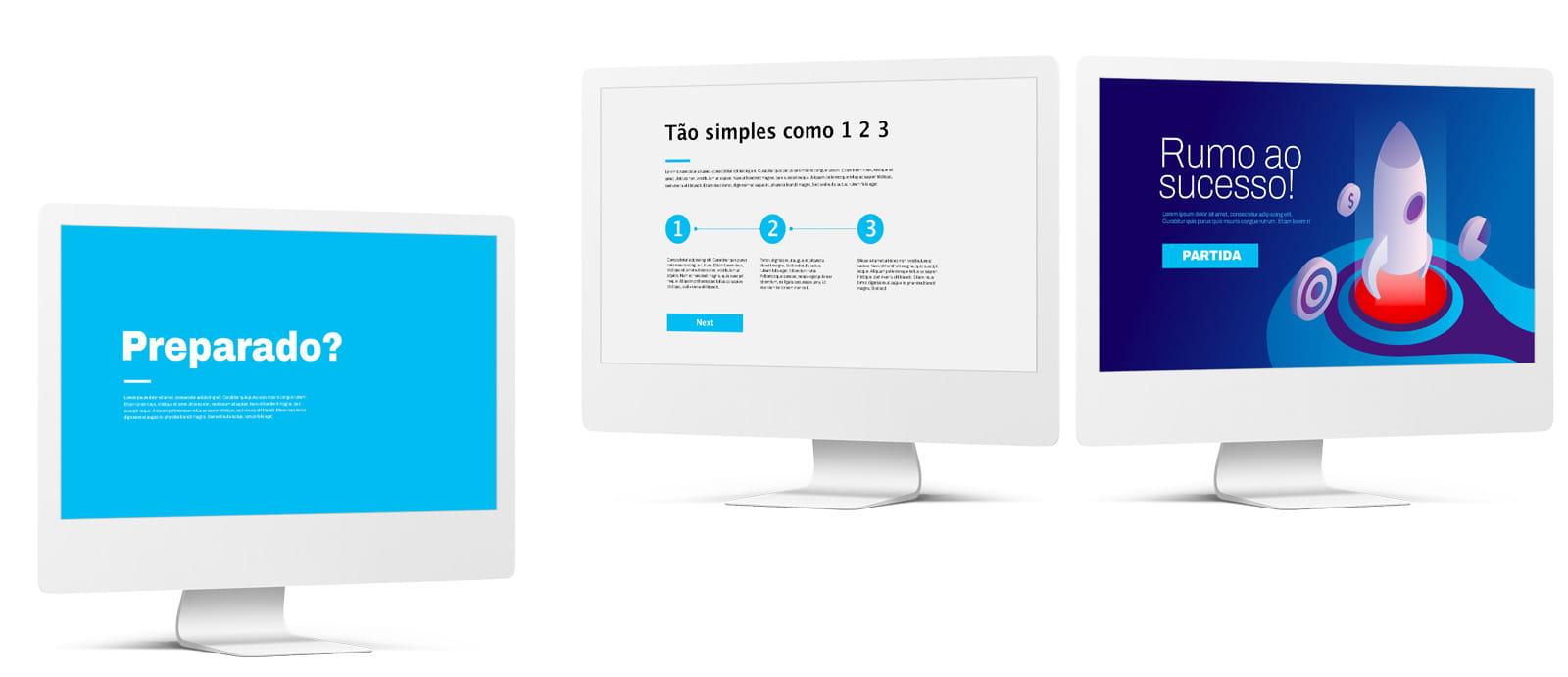 Criamos o seu website em WordPress